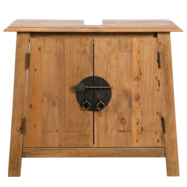 vidaXL Armario tocador cuarto de baño madera reciclada pino 70x32x63cm[3/9]