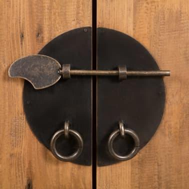 vidaXL Vonios spintelė, masyvi perdirbta pušies mediena, 48x32x170 cm[6/7]