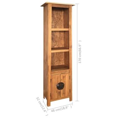 vidaXL Vonios spintelė, masyvi perdirbta pušies mediena, 48x32x170 cm[7/7]