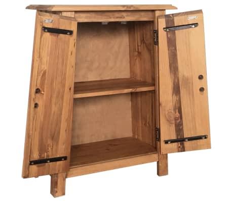 vidaXL Vonios spintelė, masyvi perdirbta pušies mediena, 59x32x80 cm[4/9]