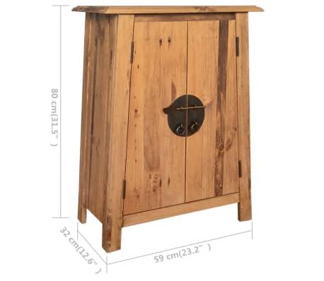 vidaXL Vonios spintelė, masyvi perdirbta pušies mediena, 59x32x80 cm[9/9]