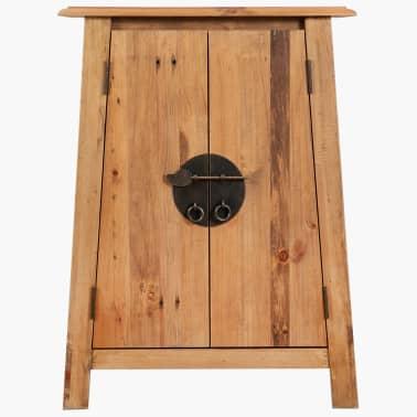 vidaXL Vonios spintelė, masyvi perdirbta pušies mediena, 59x32x80 cm[2/9]