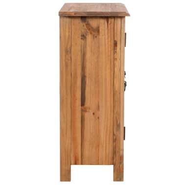 vidaXL Vonios spintelė, masyvi perdirbta pušies mediena, 59x32x80 cm[3/9]