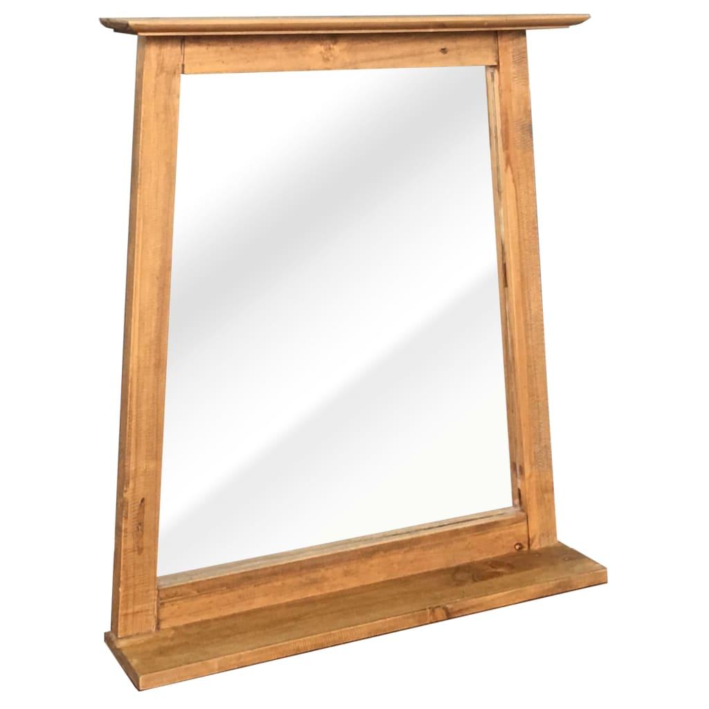 vidaXL Oglindă de baie, 70 x 12 x 79 cm, lemn masiv de pin reciclat poza vidaxl.ro