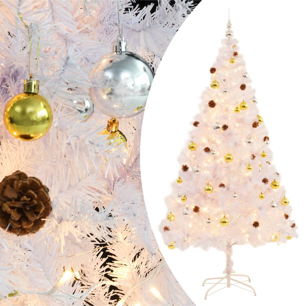 vidaXL_Albero_Natale_Artificiale_Decorato_Palline_LED