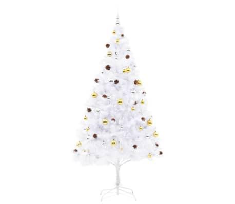 vidaxl k nstlicher weihnachtsbaum geschm ckt kugeln leds 210 cm wei im vidaxl trendshop. Black Bedroom Furniture Sets. Home Design Ideas