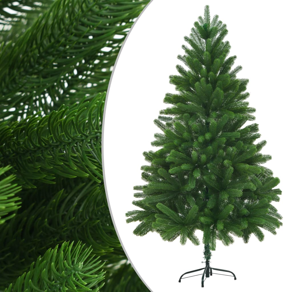vidaXL Brad de Crăciun artificial, ace cu aspect natural, 210 cm verde poza 2021 vidaXL