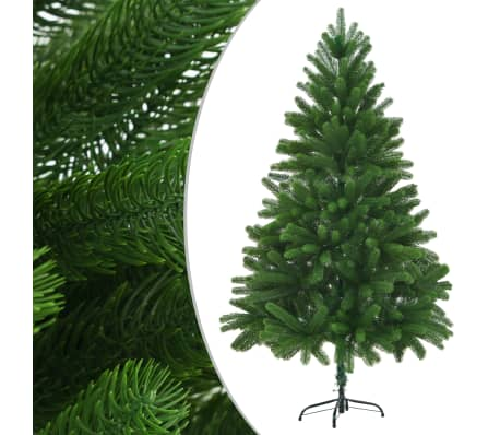 "vidaXL Faux Christmas Tree 82.7"" Lifelike Needles Green"