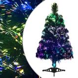 vidaXL Plastgran fiberoptik 64 cm grön