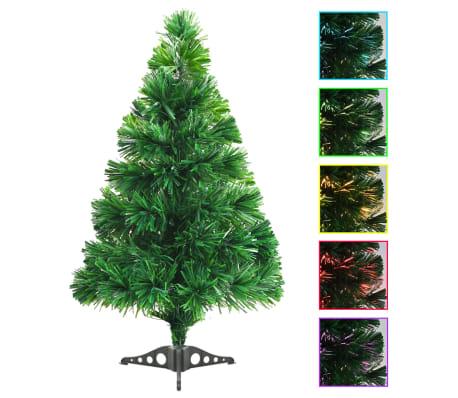 acheter vidaxl arbre de no l artificiel fibre optique 64 cm vert pas cher. Black Bedroom Furniture Sets. Home Design Ideas