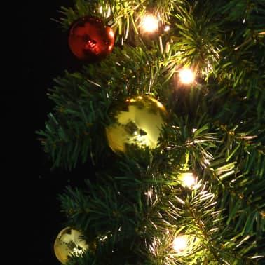 vidaXL Garland dekorert med julekuler og LED-lys 5 m[5/7]