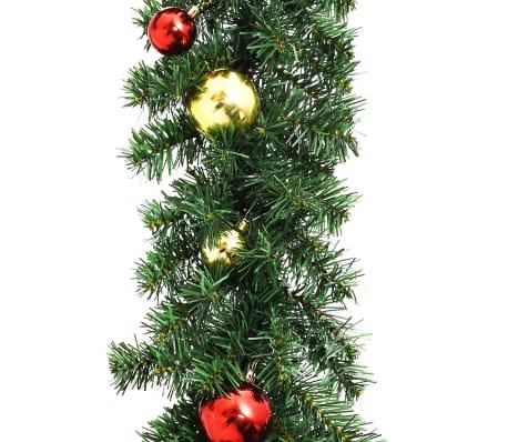 vidaXL Kerstslinger versierd met kerstballen en LED-lampjes 10 m[4/7]