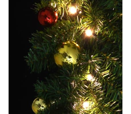 vidaXL Kerstslinger versierd met kerstballen en LED-lampjes 10 m[5/7]