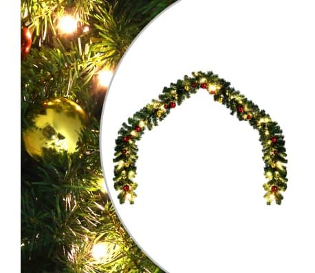 vidaXL Vianočná girlanda s ozdobami a LED svetielkami 20 m