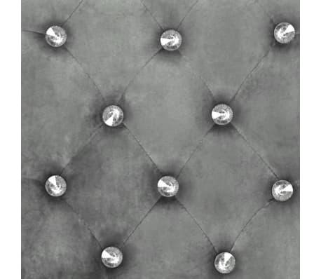 vidaXL Esszimmerstühle 6 Stk. Silbern Massivholz Eiche und Samt