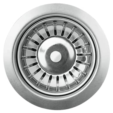 vidaXL Fregadero de cocina de granito con un seno gris[3/5]