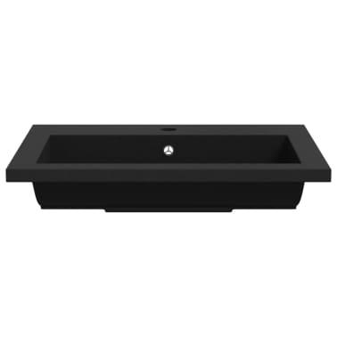 vidaXL Granitbecken 600×450×120 mm Schwarz[5/5]