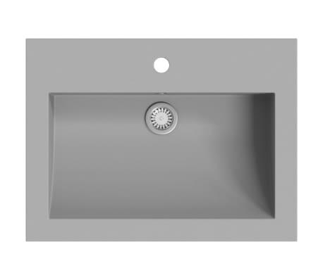 vidaXL Žulové umyvadlo 600 x 450 x 120 mm šedé