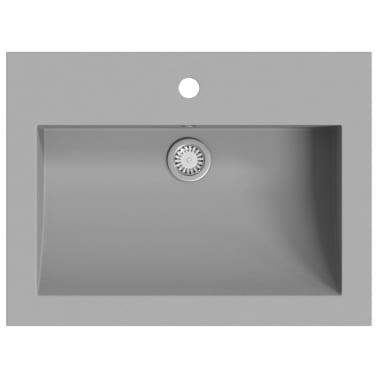 vidaXL Lavabo de granito gris 600x450x120 mm[2/5]