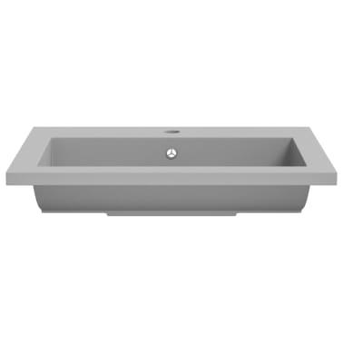 vidaXL Lavabo de granito gris 600x450x120 mm[5/5]