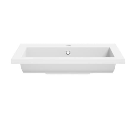 vidaXL Granitbecken 600×450×120 mm Weiß[5/5]