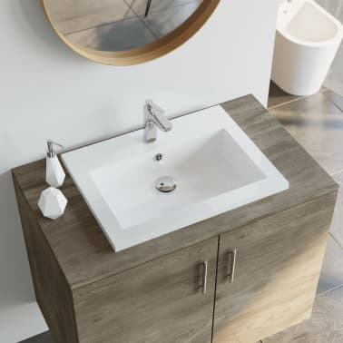 Moderne Shop vidaXL håndvask i granit 600 x 450 x 120 mm hvid | vidaXL QF-63