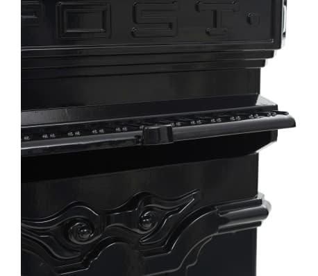 vidaXL Cutie poștală stâlp, aluminiu, stil vintage, inoxidabil, negru[13/15]