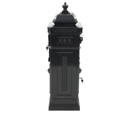vidaXL Cutie poștală stâlp, aluminiu, stil vintage, inoxidabil, negru[6/15]