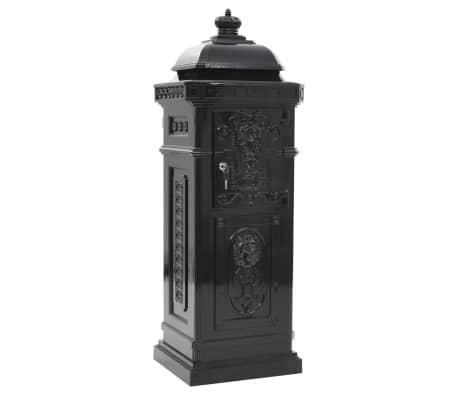 vidaXL Cutie poștală stâlp, aluminiu, stil vintage, inoxidabil, negru[7/15]