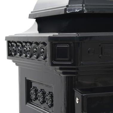 vidaXL Cutie poștală stâlp, aluminiu, stil vintage, inoxidabil, negru[14/15]