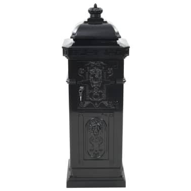 vidaXL Cutie poștală stâlp, aluminiu, stil vintage, inoxidabil, negru[8/15]