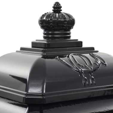 vidaXL Cutie poștală stâlp, aluminiu, stil vintage, inoxidabil, negru[11/15]