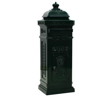 vidaXL Cutie poștală stâlp, aluminiu, stil vintage, inoxidabil, verde[2/15]