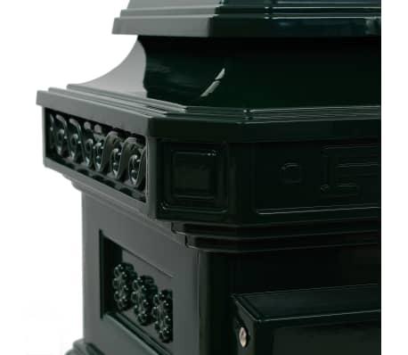 vidaXL Cutie poștală stâlp, aluminiu, stil vintage, inoxidabil, verde[14/15]