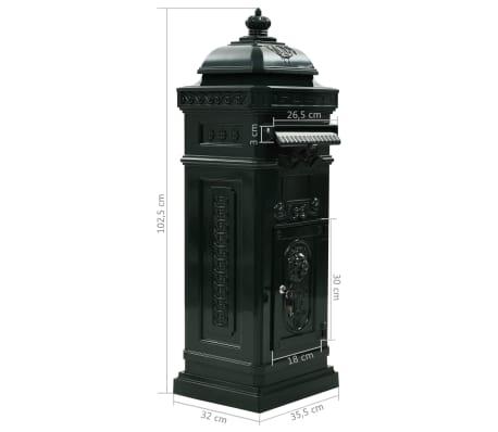 vidaXL Cutie poștală stâlp, aluminiu, stil vintage, inoxidabil, verde[15/15]