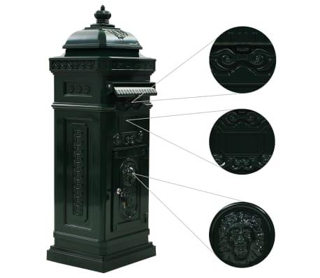 vidaXL Cutie poștală stâlp, aluminiu, stil vintage, inoxidabil, verde[5/15]
