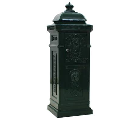 vidaXL Cutie poștală stâlp, aluminiu, stil vintage, inoxidabil, verde[7/15]