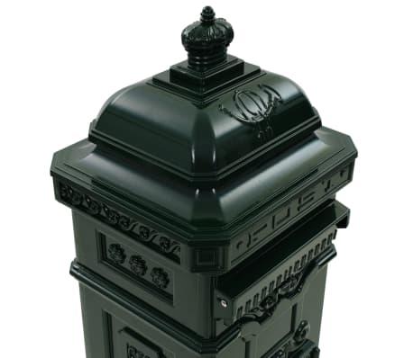 vidaXL Cutie poștală stâlp, aluminiu, stil vintage, inoxidabil, verde[10/15]