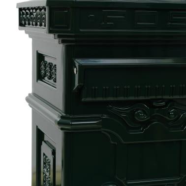 vidaXL Cutie poștală stâlp, aluminiu, stil vintage, inoxidabil, verde[12/15]