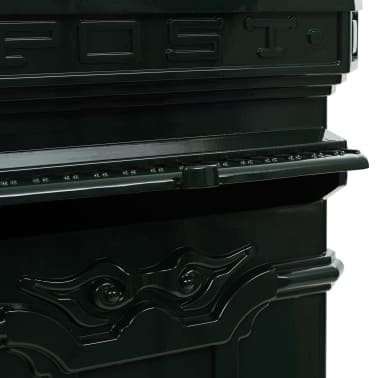 vidaXL Cutie poștală stâlp, aluminiu, stil vintage, inoxidabil, verde[13/15]