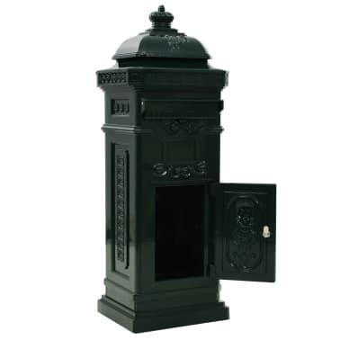 vidaXL Cutie poștală stâlp, aluminiu, stil vintage, inoxidabil, verde[4/15]