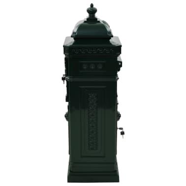 vidaXL Cutie poștală stâlp, aluminiu, stil vintage, inoxidabil, verde[6/15]