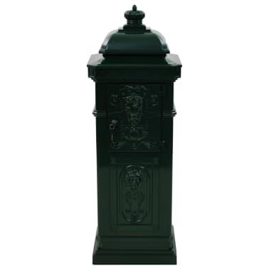 vidaXL Cutie poștală stâlp, aluminiu, stil vintage, inoxidabil, verde[8/15]