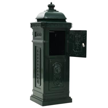 vidaXL Cutie poștală stâlp, aluminiu, stil vintage, inoxidabil, verde[9/15]