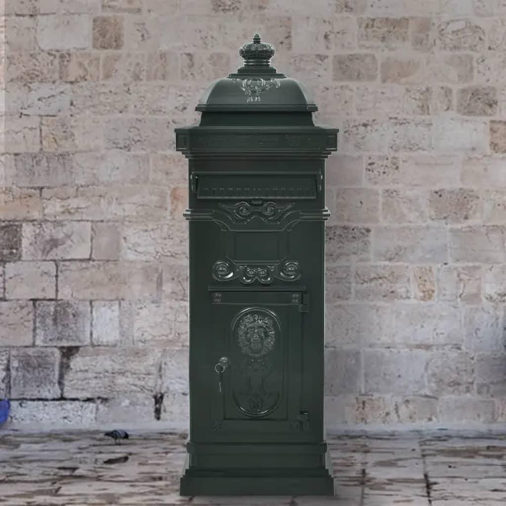 vidaXL Sloupová poštovní schránka ve vintage stylu rezuvzdorná zelená