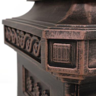 vidaXL Cutie poștală stâlp, aluminiu, stil vintage, inoxidabil, bronz[13/14]