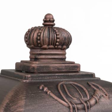 vidaXL Cutie poștală stâlp, aluminiu, stil vintage, inoxidabil, bronz[10/14]