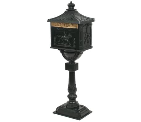 vidaXL Sockel-Briefkasten Aluminium Vintage Style Rostfrei Grün[2/13]