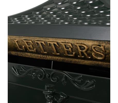 vidaXL Sockel-Briefkasten Aluminium Vintage Style Rostfrei Grün[5/13]