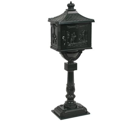 vidaXL Sockel-Briefkasten Aluminium Vintage Style Rostfrei Grün[7/13]